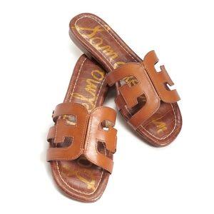 SAM EDELMAN Bay Slide Sandal Saddle Leather